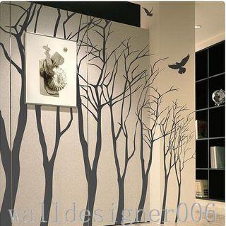 Httpwww.etsy.comlisting62545544lovely-winter-forest-interior-wall-vinyl